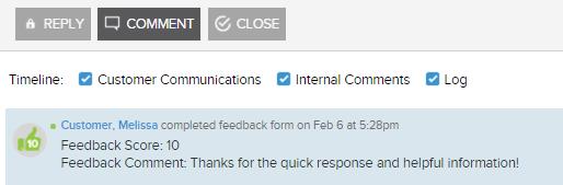 Score and Customer Feedback